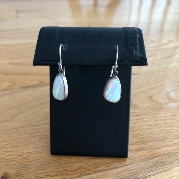 5953a83dd92d8 Sterling Silver Opal Drop Earrings